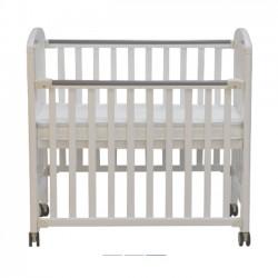 """Misuki Baby Cot (White) - 44.5 x 24"""""""