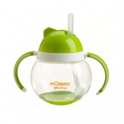 mOmma Cup with Straw and Dual Handles - Green