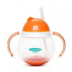 mOmma Cup with Straw and Dual Handles - Orange