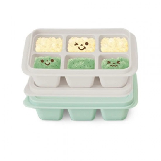 Mother's Corn Silicone Freezer Cubes (Mint & Gray)
