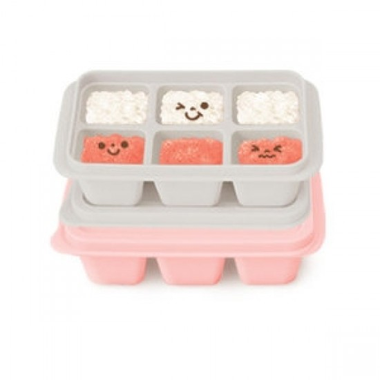 Mother's Corn Silicone Freezer Cubes (Pink & Gray)