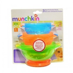 Munchkin Stay Put Suction Bowl - 3 pcs