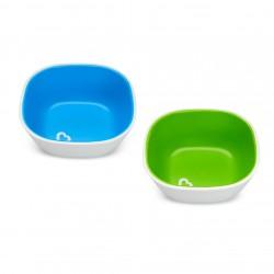 Munchkin Splash Toddler Bowls - Blue / Green