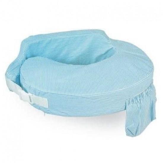 My Brest Friend Original Nursing Pillow - Light Blue Stripes (706)