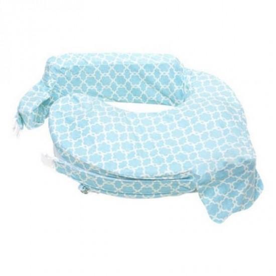 My Brest Friend Deluxe Brestfeeding Pillow - Blue Flower