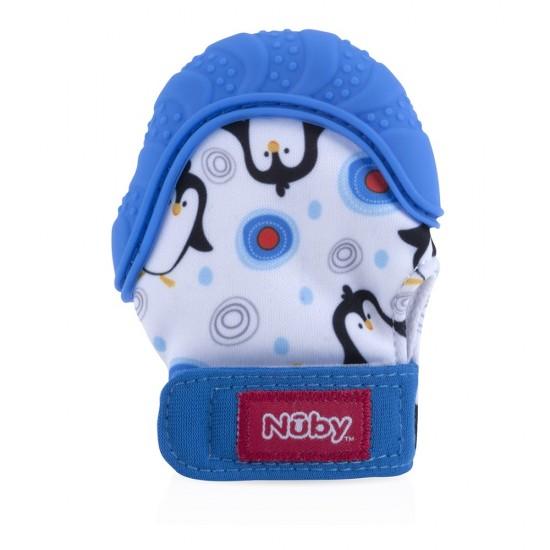 Nuby Happy Hands™ Teething Mitten - Blue