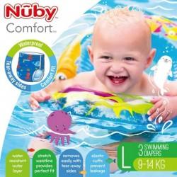 Nuby disposable swimming pants - Blue Large ( 3 pcs)