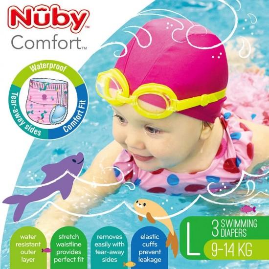 Nuby disposable swimming pants -Pink Large ( 3 pcs)