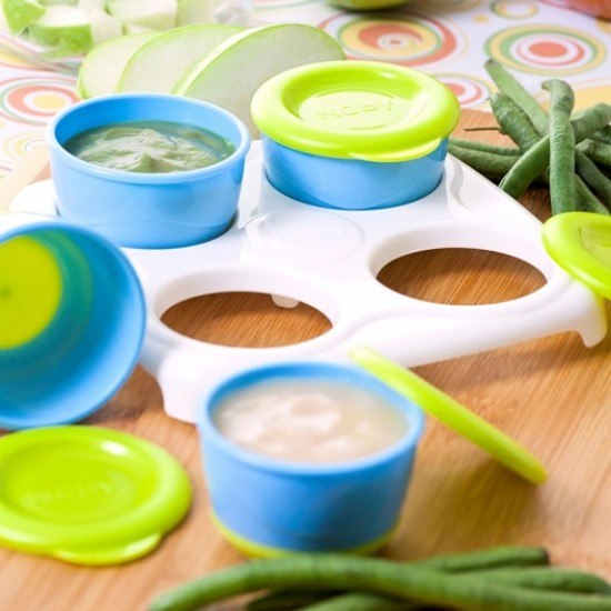Nuby Garden Fresh Freezer Pots - Blue/Green