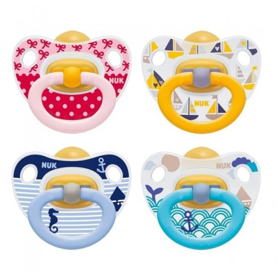 Nuk Orthodontic Latex soothers 6-18 m