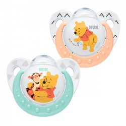 Nuk Orthodontic Silicone soothers 0-6 m - Winnie the Pooh