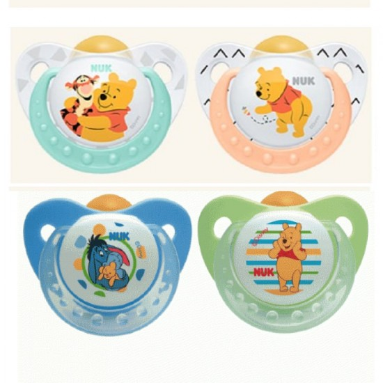 Nuk Orthodontic Latex soothers 6-18 m - Winnie the Pooh