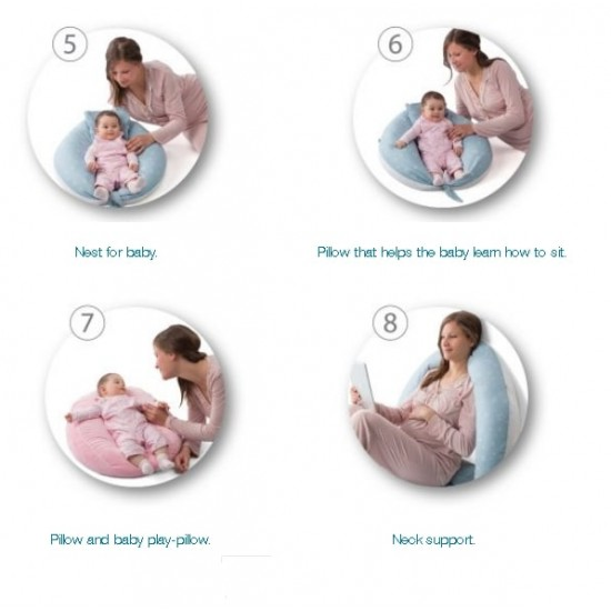 Nuvita DreamWizard 10 in 1 Pregnancy And Breastfeeding Pillow - Dot