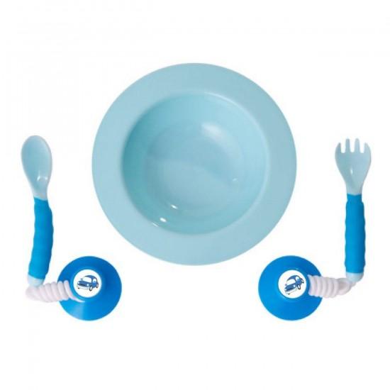 Ezee-Reach Stay-Put Cutlery Bowl - Blue