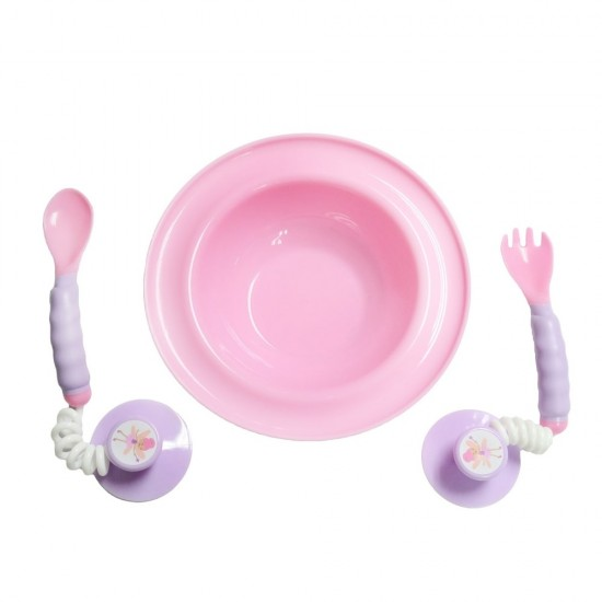 Ezee-Reach Stay-Put Cutlery Bowl - Pink