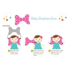 Baby Elephant Ears Baby Head Support Pillow - Blue Dot