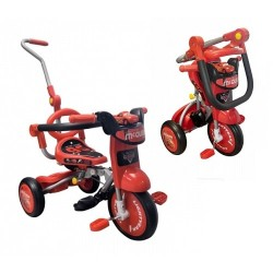 Cars Foldable Tricycle with Push Bar & Guard