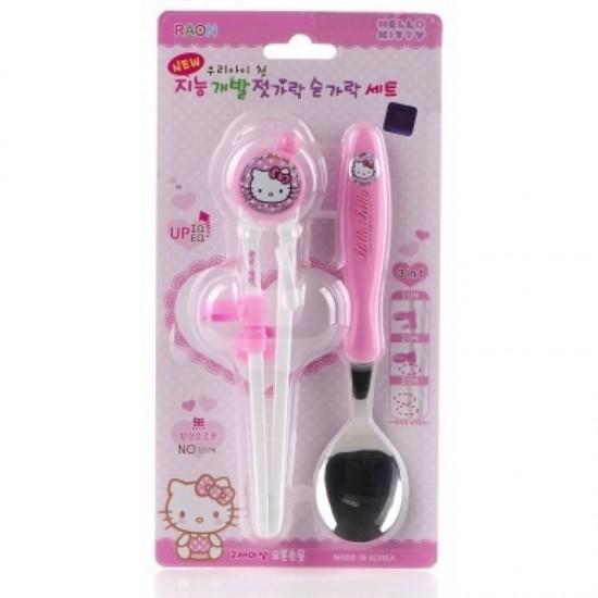 Hello Kitty Chopsticks and Spoon