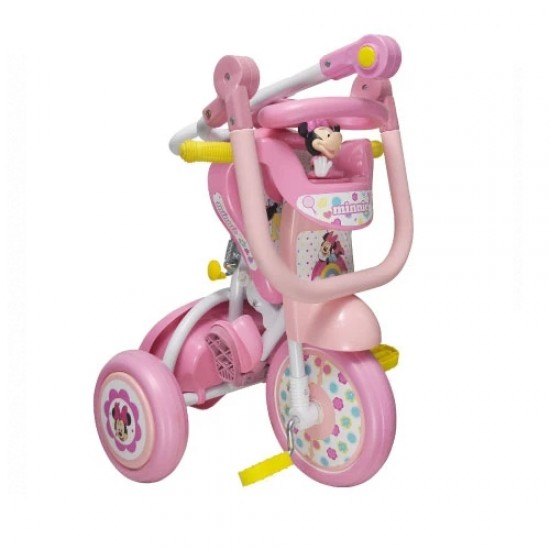 Minnie Foldable Tricycle with push handle and guard