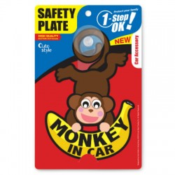Auto Style Safety plate - Monkey in Car