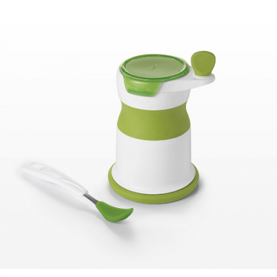 OXO tot Baby Food Mill with Silicone Feeding Spoon