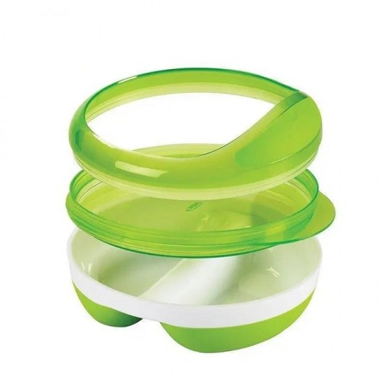 OXO tot Divided Feeding Dish - Green