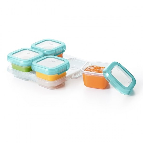OXO tot Baby Blocks Freezer Storage Containers - 120 ml, Aqua