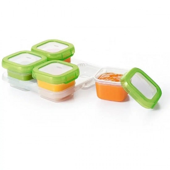 OXO tot Baby Blocks Freezer Storage Containers - 120 ml , Green