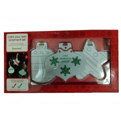 Pearhead color your own ornament set