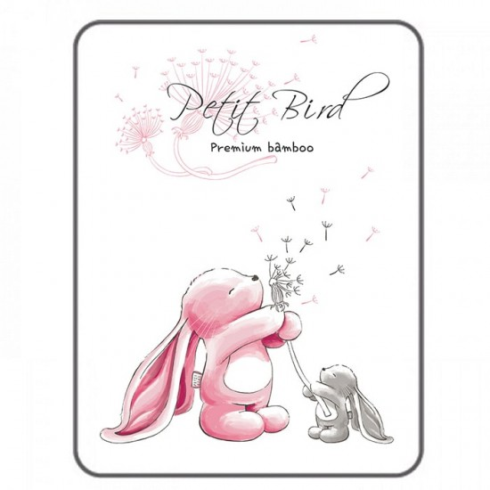 Petit Bird Bamboo Fiber Baby Changing Mat - Rabbit