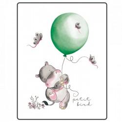 Petit Bird Bamboo Fiber Baby Changing Mat - Hippo