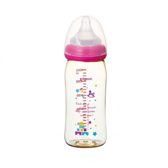 Pigeon DECO printing PPSU Wide Neck Bottle - 240 ml