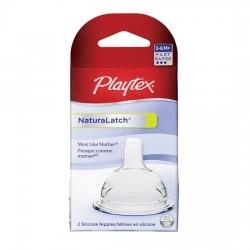 Playtex NaturaLatch Nipple - Fast Flow - 2 pcs