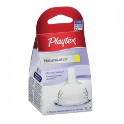 Playtex NaturaLatch Nipple - Medium Flow - 2 pcs