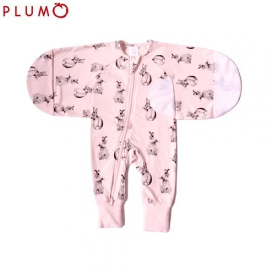 Plum 2.5 Tog Swaddle Suit - Sketch Bunny
