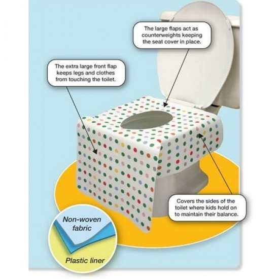 PottyCover Disposable Toilet Cover - 6 pcs