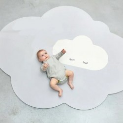 Quut Playmate - Head in the Clouds  (L - 175 X 145 cm) - Pearl Grey
