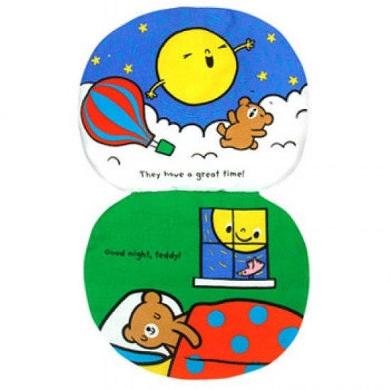 Read & Play Soft Book - Teddy goes to the moon