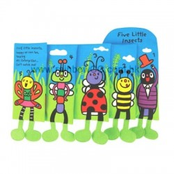 Read & Play Soft Book - Five little insects