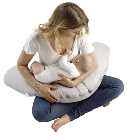 Red Castle Big Flopsy Maternity and Nursing Pillow - Chambray Blue