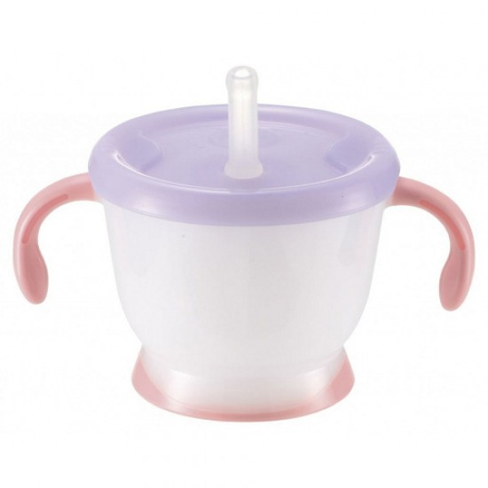Richell Aquela Straw Training Mug - Purple