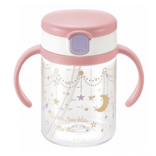 Richell Aquela Straw Training Mug & Clear Straw bottle mug - Twinkle Star