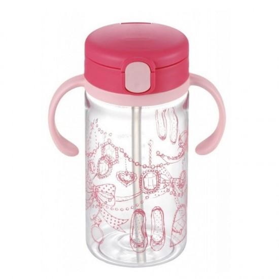 Richell LC Clear Straw Bottle Mug  (320 ml)