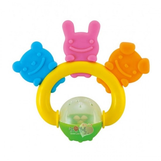 Richell 3 friends Teether & Rattle