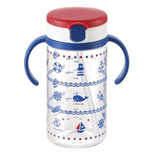 Richell aquela straw bottle mug (NB) - 320 ml