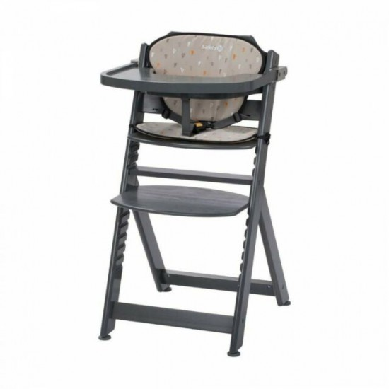 Safety 1st Timba Wood High Chair with cushsion Grey (2760191000)