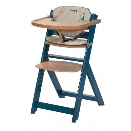 Safety 1st Timba Wood High Chair with cushsion - Blue (2760702000)