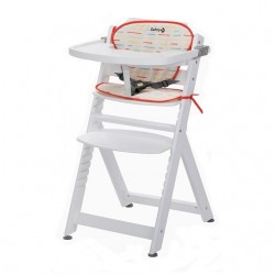 Safety 1st Timba Wood High Chair with cushsion - White (2760431001)