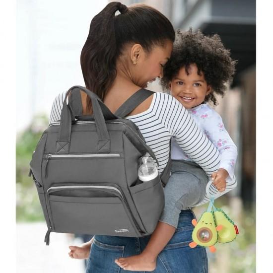 Skip Hop Main Frame Wide Open Backpack - Charcoal