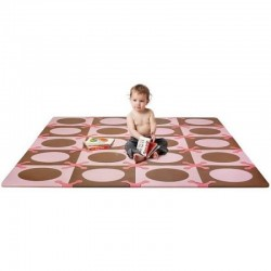 Skip Hop Playspot Foam Floor Tiles - Pink / Brown